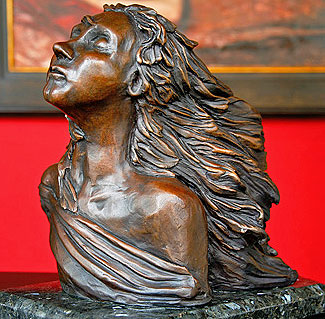 Bronze Woman Sculpture by Teresa Yost